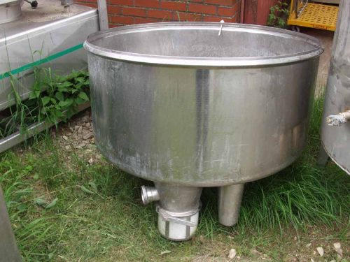 ca. 500 Liter Edelstahlbehälter Vorlaufbehälter Art.1364